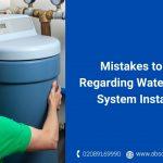 water softener system installation